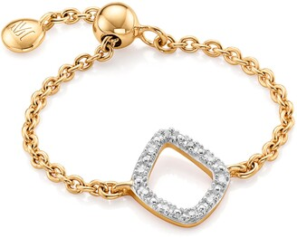 Monica Vinader Riva Mini Kite Diamond Friendship Ring