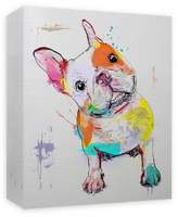 PTM Images Frenchie Paint 16-Inch x 20-Inch Canvas Wall Art