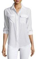 Equipment Slim Signature Long-Sleeve Shirt, Bright White