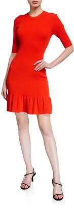 A.L.C. Vance Elbow-Sleeve Length Flounce Dress