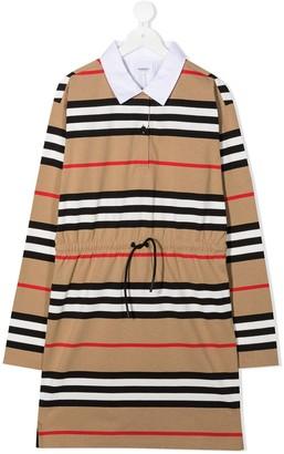 BURBERRY KIDS Archive Stripe print shirt dress