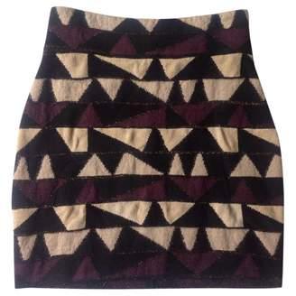 Olga Maison Multicolour Wool Skirt for Women