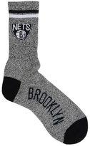 For Bare Feet Brooklyn Nets Two Stripe Socks