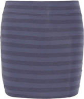 Splendid Stretch-jersey striped mini skirt