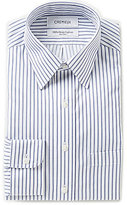 Daniel Cremieux Non-Iron Fitted Classic-Fit Point-Collar Striped Twill Dress Shirt