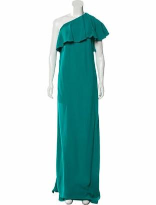 Lanvin One-Shoulder Long Dress w/ Tags Green