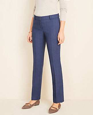 Ann Taylor The Petite Straight Pant in Glen Plaid