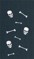C&F Skull and Bones Happy Halloween Spooky Cotton Kitchen Towel