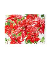 April Cornell Poinsettia Dining Tablecloth and Matching Items