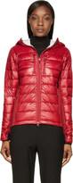 Canada Goose Red Nylon and Knit Hybridge Hoodie Jacket
