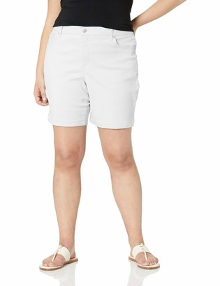Gloria Vanderbilt Women's Petite Amanda Basic Jean Short Crystal White 6P