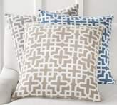 Pottery Barn Holt Trellis Jacquard Pillow Cover