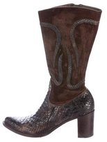 Rocco P. Python Pointed-Toe Boots