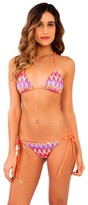 Luli Fama Song Of The Sea Wavey T/S Ruched Full Bottom in Multicolor (L4932FZ)