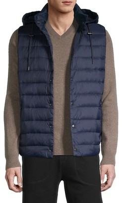 Saks Fifth Avenue Travel Hooded Packable Down Puffer Vest