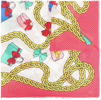 Moschino Graphic-Print Scarf