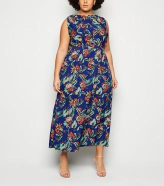 New Look Mela Curves Tropical Floral Maxi Dress