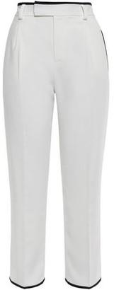 Equipment Bergen Cropped Stretch-crepe Straight-leg Pants