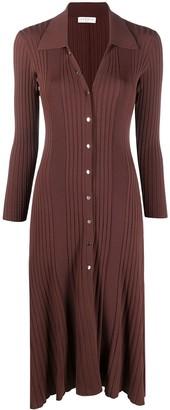 Sandro Melanie knitted midi dress
