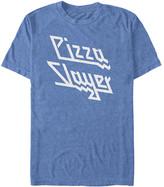Fifth Sun Men's Tee Shirts OCEANBL - Ocean Blue Heather 'Pizza Slayer' Tee - Men