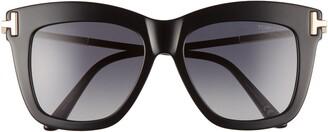 Tom Ford Dasha 52mm Polarized Square Sunglasses