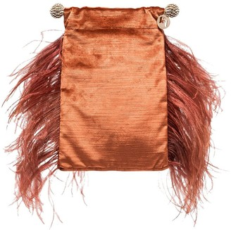 Rosantica Athos feather detail clutch