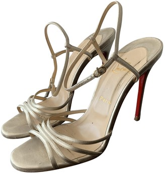 Christian Louboutin Gold Leather Sandals