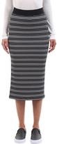 ATM Anthony Thomas Melillo Women's Engineered Striped Rib Skirt