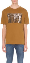 The Kooples Printed Cotton-jersey T-shirt