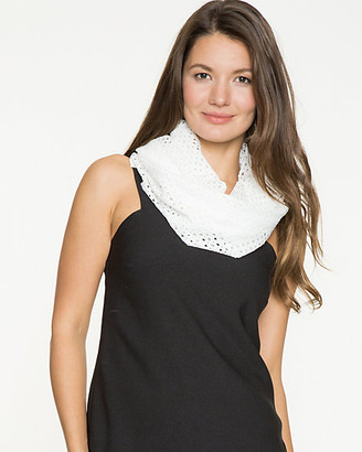 Le Château Eyelet Knit Infinity Scarf