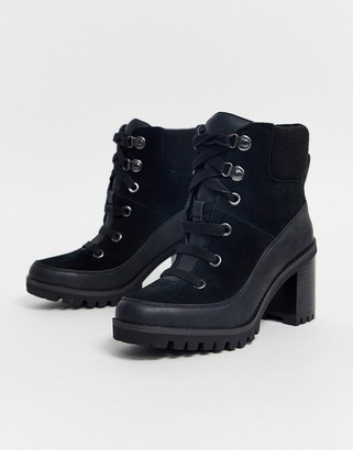 UGG Redwood hiker heeled ankle boots in black