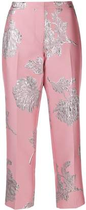 Alexander McQueen Northern Rose cigarette trousers