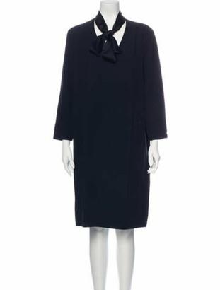 The Row Tie Neck Knee-Length Dress Black