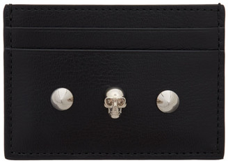 Alexander McQueen Black Skull and Stud Card Holder