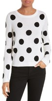 Alice + Olivia Women's Celyn Embellished Polka Dot Crewneck