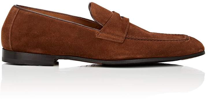 Doucal's Men's Suede Penny Loafers