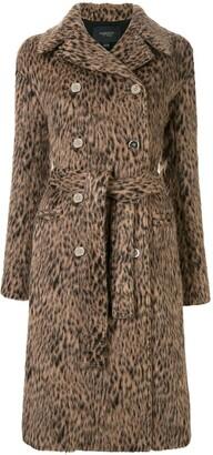 Giambattista Valli Animal-Print Double Breasted Coat