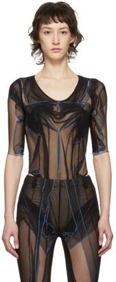 Y/Project Black Tulle Bodysuit