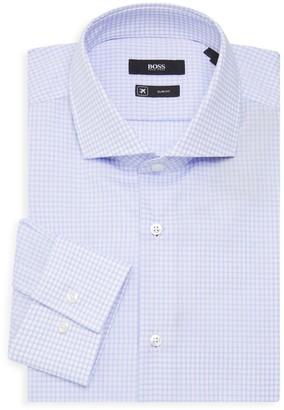 HUGO BOSS Jason Slim-Fit Check Dress Shirt