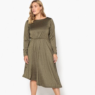 Castaluna Plus Size Metallic Midi Dress