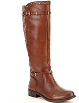 Gianni Bini Tobin Woven Back Riding Boots