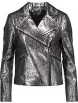 Marc by Marc Jacobs Celeste Metallic Textured-Leather Biker Jacket