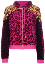 Versace sporty leopard print hooded jacket