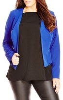 City Chic Plus Size Women's 'Sweet Peplum' Jacket