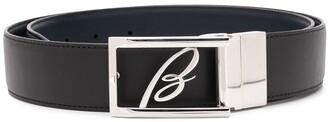 Brioni Leather Logo Plaque Belt