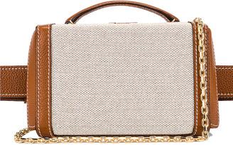 Mark Cross Grace Box Belt Bag in Acorn | FWRD