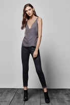 J Brand Alana High-Rise Crop w/ Released Hem and Zip in Coated Dust