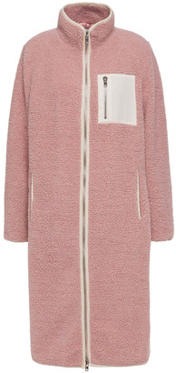 Stand Studio Cameron Shell-trimmed Faux Shearling Coat