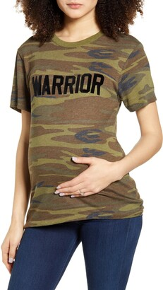 Bun Maternity Warrior Camo Maternity Graphic Tee