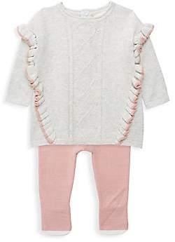 Miniclasix Baby Girl's Two-Piece Sweater Dress & Tights Set